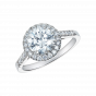 Regal Ring set with brilliant cut diamonds