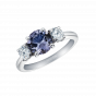 Trilogy Ring with Lavender Spinel
