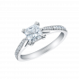 Reflection Princess Cut Diamond Ring