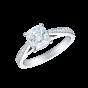 Reflection Ring with Cushion Cut Diamond