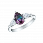 Trilogy Alexandrite and Diamond Ring