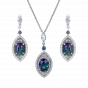 Cleopatra Alexandrite and Diamond Pendant