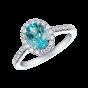 Regal Paraíba Tourmaline and Diamond Ring