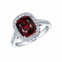 Regal Spinel and Diamond Ring
