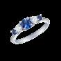 Cinq Sapphire and Diamond Ring