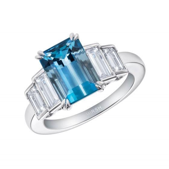 Artemis Aquamarine and Diamond Ring