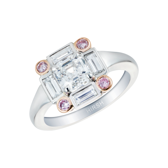 Ice Diamond and Pink Diamond Ring