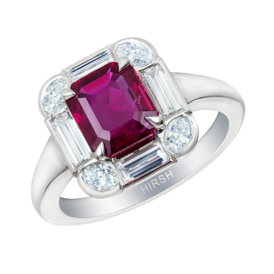 Ice Ruby and Diamond Ring