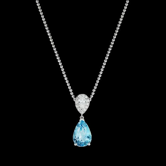 Burlington Aquamarine and Diamond Pendant