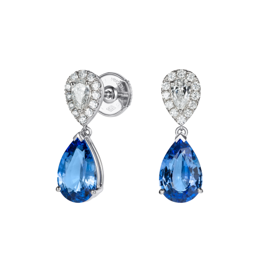 Burlington Sapphire and Diamond Earrings