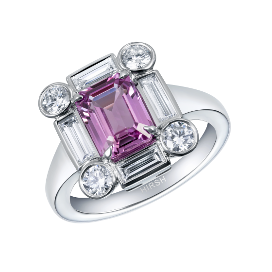 Ice Pink Sapphire and Diamond Ring
