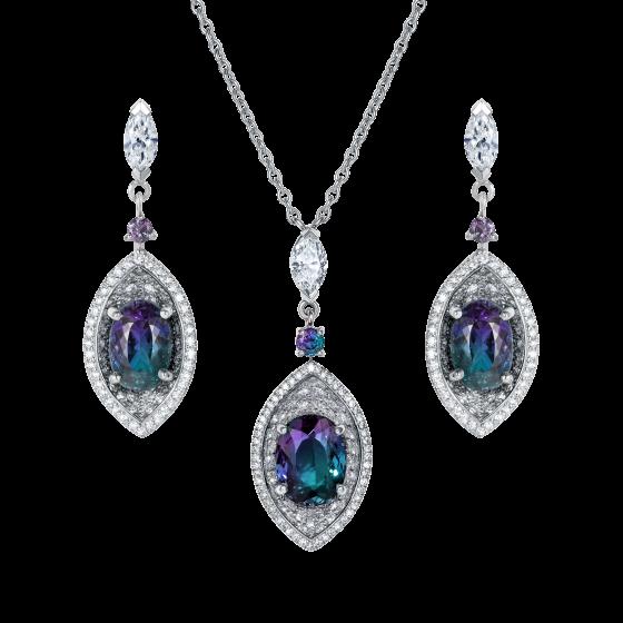 Cleopatra Alexandrite and Diamond Set