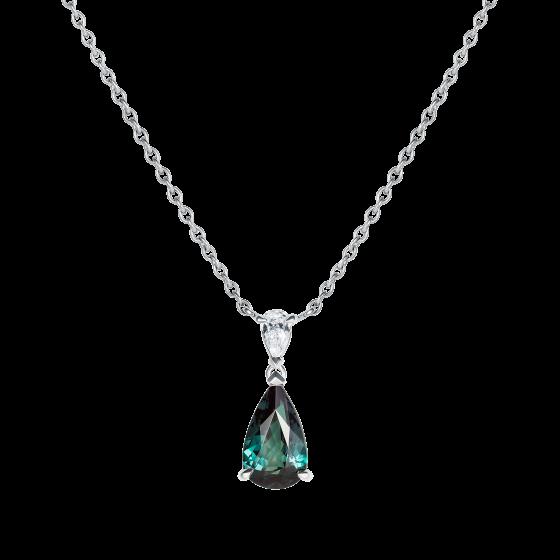 Wallace Alexandrite and Diamond Pendant
