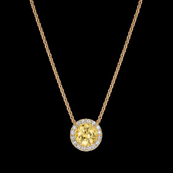 Regal Yellow Sapphire Pendant