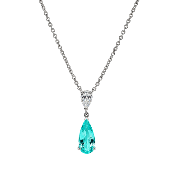 Wallace Paraíba Tourmaline and Diamond Pendant