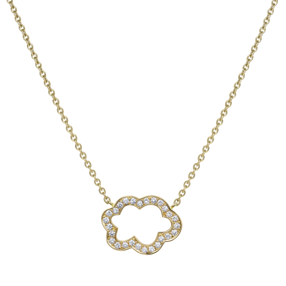 Cloud 9 Yellow Gold and Diamond Pendant