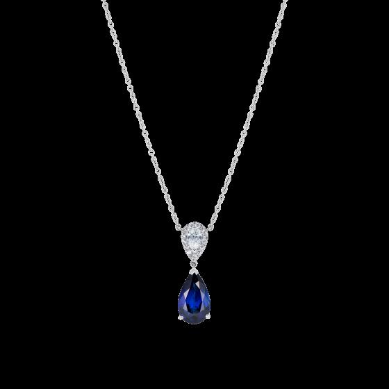 Burlington Royal Blue Sapphire and Diamond Pendant