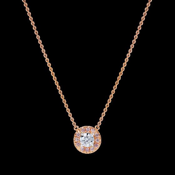 Regal Pink and White Diamond Pendant