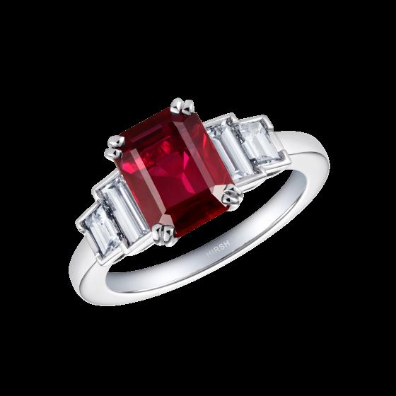 Artemis Ruby and Diamond Ring