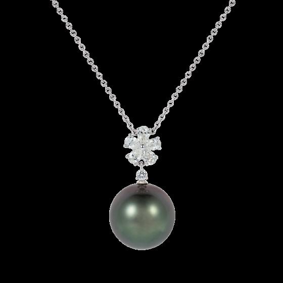 Beauchamp Tahitian Pearl and Diamond Pendant