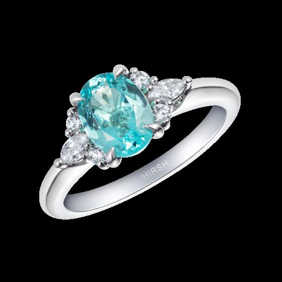 Papillon Paraíba Tourmaline and Diamond Ring