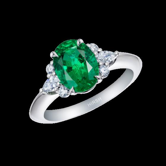 Papillon Emerald and Diamond Ring