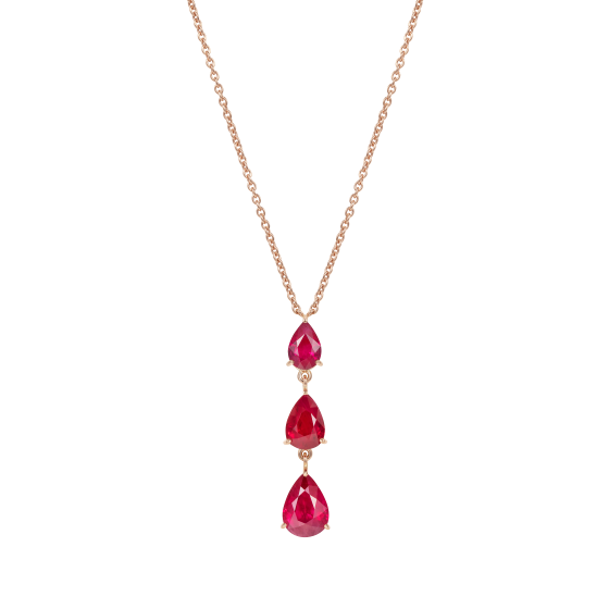Trilogy Pear Shape Ruby Pendant