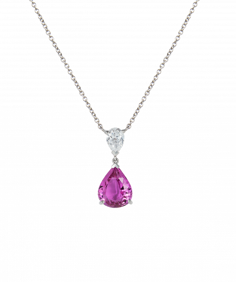 Wallace Pink Sapphire and Diamond Pendant