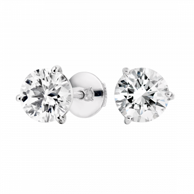 Solitaire Diamond Studs 3 carats total