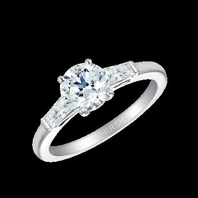 Trio Round Brilliant Cut Diamond Ring