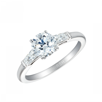 Trio Round Brilliant Cut Diamond Ring