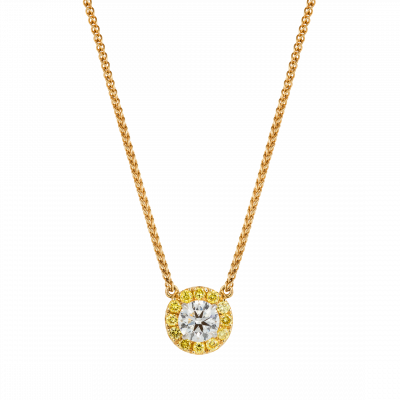 Regal Yellow Diamond Pendant