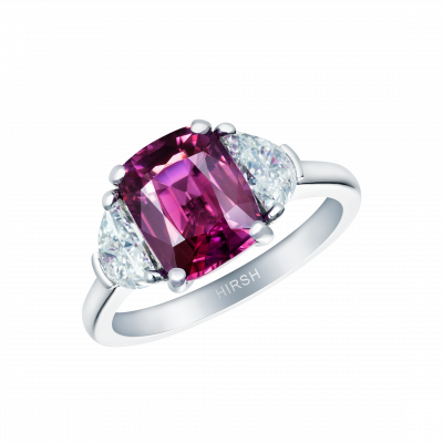 Trio Ring with Magenta Sapphire