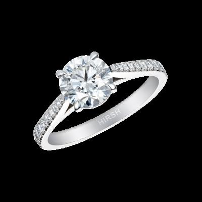 Round Brilliant Cut Diamond Reflection Ring