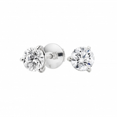 Solitaire Diamond Studs 1.07 carats total