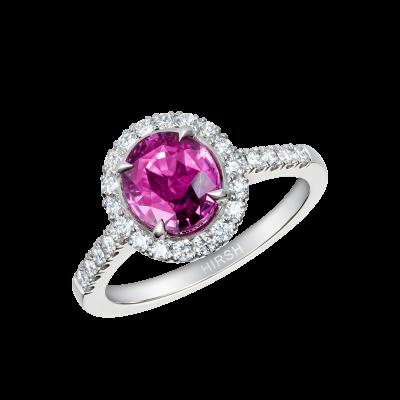 Round Pink Sapphire Regal Ring