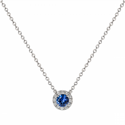 Regal Sapphire and Diamond Pendant