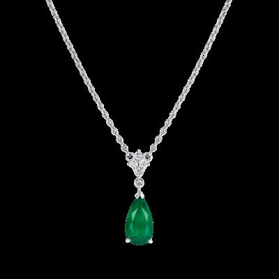 Connaught Emerald and Diamond Pendant