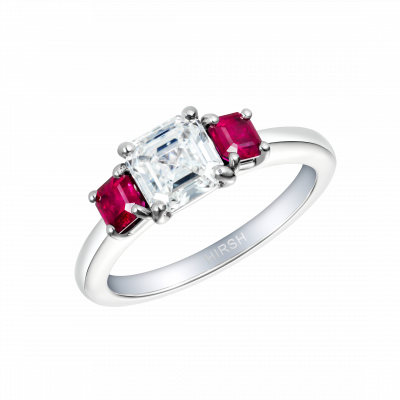 Trilogy Diamond and Ruby Ring