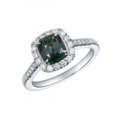 Regal Alexandrite and Diamond Ring