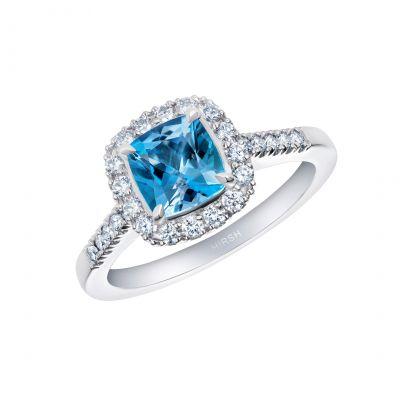 Regal Aquamarine and Diamond Ring