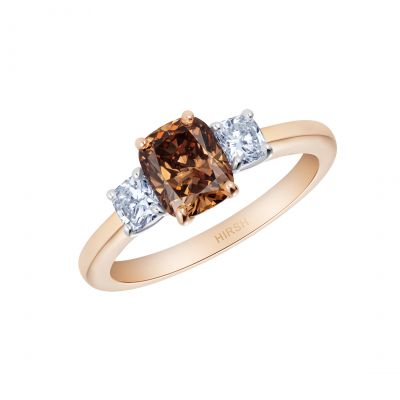 Trilogy Cognac Diamond Ring