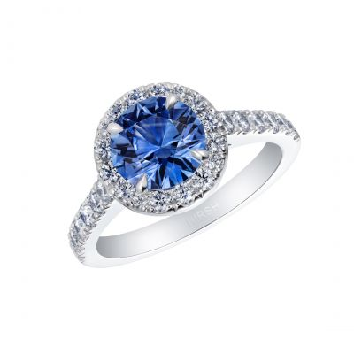 Regal Cornflower Blue Sapphire and Diamond Ring