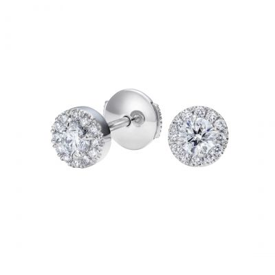 Regal Earrings Set with Diamonds