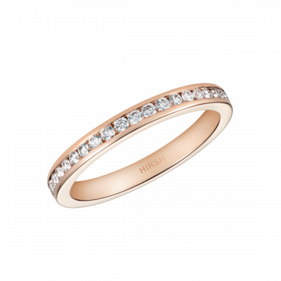 Channel Set Diamond Eternity Ring in Rose Gold