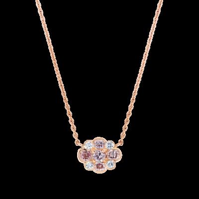 Pink Diamond Cluster Pendant