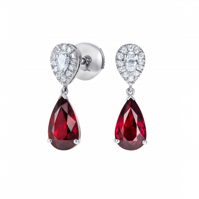 Burlington Ruby and Diamond Earrings