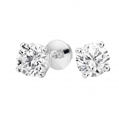 Diamond Studs 4.02 carats total