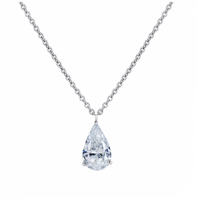 Solitaire Pear Shape Diamond Pendant