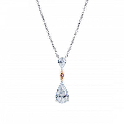 Grafton Diamond and Pink Diamond Pendant